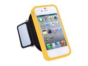ISOUND Sport Armband Pro Removable Protective Case with 2 Adjustable Armbands & Safety Reflectors for iPhone 4 & 4S - Yellow. Model ISOUND-5243
