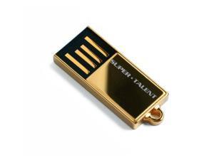 SuperTalent 8GB Pico-C USB 2.0 Flash Drive Water Resistant Color Gold Model STU8GPCG