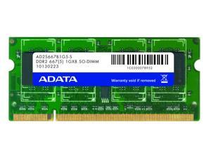 ADATA 1GB AData DDR2-667 (PC2-5400) SO-DIMM 200-pin module Model AD2S667B1G5-S
