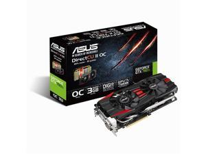 Asus GTX780TI-DC2OC-3GD5 GeForce GTX 780 Ti Graphic Card - 954 MHz Core - 3 GB GDDR5 SDRAM - PCI Express 3.0 - 7000 MHz Memory Clock - SLI - Fan Cooler - DirectX 11.2 - HDMI - DisplayPort - DVI