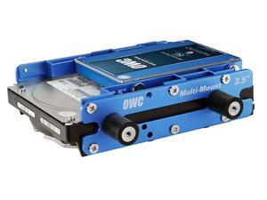"""OWC 2.5"""" to 3.5""""and 3.5"""" to 5.25""""  Multi-Mount Hard Drive adapter bracket set. Install one 3.5"""" and one 2.5"""" HDD or SSD in a single 5.25"""" bay Model OWCMM35A52CMB"""