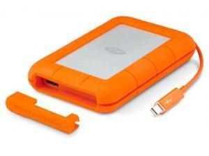 LaCie 500GB SSD Rugged Dual Interface Portable Hard Drive (Thunderbolt, USB3.0) Model 9000491