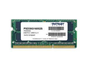 Patriot Memory DDR3 8GB PC3-12800 (1600MHz) SODIMM Model PSD38G16002S