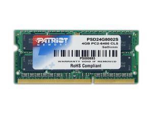 Patriot 4GB DDR2 PC2-6400 800MHz CL6 SO-DIMM Laptop Memory module Model PSD24G8002S