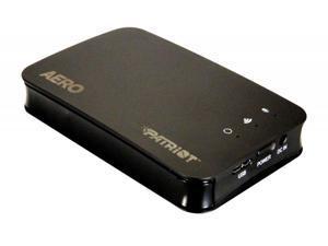 Patriot Aero 500GB USB 3.0 WiFi Wireless Portable External Hard Drive. Black Model PCGTW500S