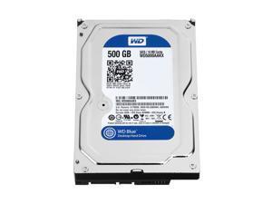 """Western Digital 500GB Blue 7200 RPM 16MB Cache SATA 6.0Gb/s 3.5"""" Internal Hard Drive Bare Drive Model WD5000AAKX"""