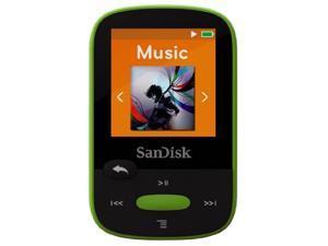 SANDISK  8GB Clip Sport  MP3 Player Lime Model SDMX24-008G-A46L