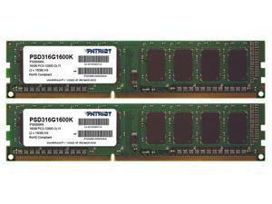 PATRIOT MEMORY 16GB (2 x 8 GB)- 1600 MHz DDR3-1600/PC3-12800 - 240-pin Model