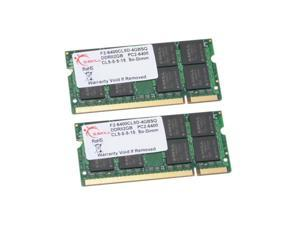 G.SKILL 4GB (2 x 2GB)  DDR2 PC2-6400 800MHz 200-Pin Laptop Memory Model F2-6400CL5D-4GBSQ