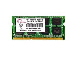 G.SKILL 4GB  DDR2 PC2-6400 800MHz 200-Pin Laptop Memory Model F2-6400CL6S-4GBSQ