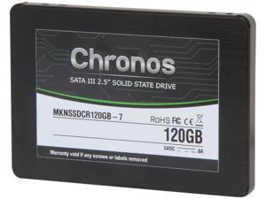"""Mushkin 120GB Chronos 7mm SATA III 2.5"""" SSD Internal Solid State Drive Model MKNSSDCR120GB-7"""
