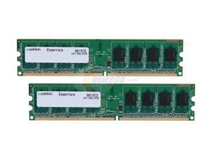 Mushkin 2GB (2x1GB) Essentials DDR2 PC2-5300 667MHz Desktop Memory Model 991503