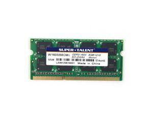 Super Talent 8GB DDR3 PC-12800 1600MHz 204-pin CL11 Micron Chip Notebook Memory Model W160SB8GML