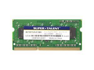 Super Talent 4GB DDR3L PC3-12800U 1600MHz  Micron Chip Notebook Memory Model W1600SA4GML(SZ)