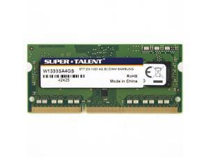 Super Talent 4GB DDR3 PC3-10600U 1333MHz Samsung Chip Notebook Memory Model W1333SA4GS