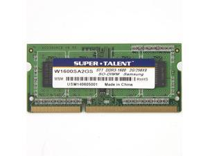 Super Talent 2GB DDR3 PC3-12800U 1600MHz 256Mx8 CL11 Samsung Chip Notebook Memory Model W1600SA2GS(SZ)