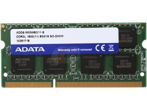 ADATA 8GB DDR3 PC3L-12800 1600MHz 204-Pin Laptop Memory Model ADDS1600W8G11-S