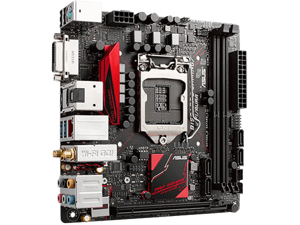 ASUS B150I  Intel B150 Chipset, LGA 1151, DDR4 32GB, HDMI, M.2, Mini-ITX, Retail Motherboard Model B150I PRO GAMING/WIFI/AUR