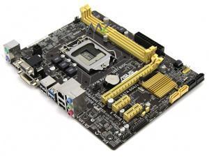 ASUS LGA1150 Intel H81 DDR3 SATA3&USB3.0 A&GbE MicroATX Desktop Motherboard Model H81M-A