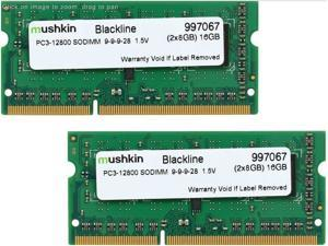 Mushkin Enhanced 16GB (2 x 8GB) Blackline DDR3 PC3-12800 1600MHz 204-Pin Laptop Memory Model 997067