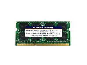 Super Talent 8GB DDR3 PC-12800 1600MHz 512Mx8 CL11 Micron Chip Notebook Memory Model W1600SB8GM