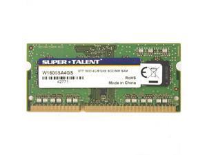 Super Talent 4GB DDR3 PC3-12800U 1600MHz Samsung Chip Notebook Memory Model W1600SA4GS(SZ)