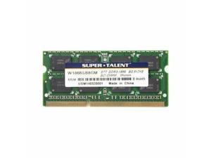 Super Talent 8GB DDR3 PC3-14900U 1866MHz Micron Chip CL13 Notebook Memory Model W1866SB8GM(SZ)