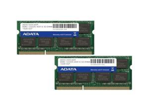 ADATA 8GB (2x4GB)DDR3 PC-10666 1333MHz SO-DIMM Laptop Memory RAM 204 pin Model AD3S1333C4G9-2