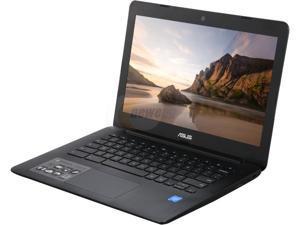 ASUS 13.3'' Intel Celeron N3060 1.6GHz 4GB LPDDR3 16GB eMMC TPM/ USB3.0 Black Chrome Notebook Model C300SA-DS02