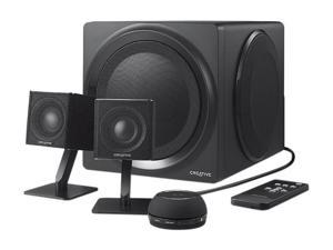 Creative  2.48GHz T4 Bluetooth 2.1 Speaker System Black Wireless Speaker Model 51MF0430AA002