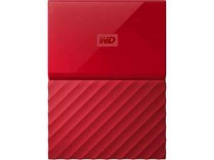 Western Digital 1TB My Passport Portable Hard Drive USB 3.0 Color Red Model WDBYNN0010BRD-WESN