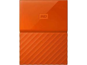 Western Digital 3TB My Passport Portable Hard Drive USB 3.0 Color Orange Model WDBYFT0030BOR-WESN