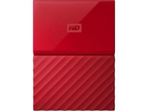 Western Digital 3TB My Passport Portable Hard Drive USB 3.0 Color Red Model WDBYFT0030BRD-WESN