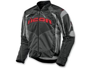 Icon Contra Motorcycle Jacket Slate Small