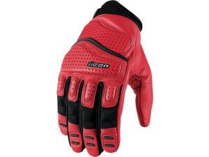Icon Superduty 2 Motorcycle Gloves Red Small