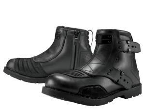 Icon One Thousand El Bajo Motorcycle Boot Oiled Brown Size EU42/US8.5
