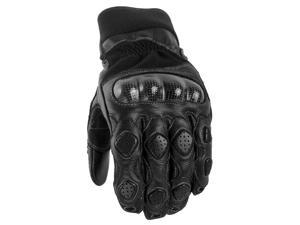 Power Trip Grand National Motorcycle Gloves Black Size Small