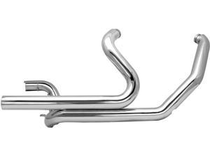 S&S Cycle Power Tune Duals Head Pipes - Chrome 550-0003 For Harley Davidson