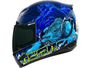 Icon Airmada Thriller Motorcycle Helmet Blue Large