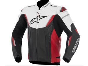 Alpinestars GP-R Leather Motorcycle Jacket White/Black/Red 42