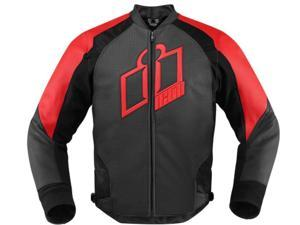 Icon Hypersport Motorcycle Jacket Red X-Large