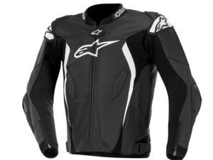 Alpinestars GP Tech Leather Motorcycle Jacket Black/White 42