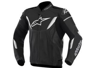 Alpinestars GP-R Leather Motorcycle Jacket Black/White 38