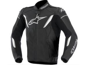 Alpinestars GP-R Perforated Leather Motorcycle Jacket Black/White 38