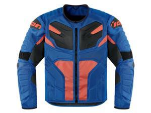Icon Overlord Resistance Motorcycle Jacket Blue XX-Large