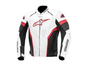 Alpinestars GP Plus R Leather Motorcycle Jacket White/Black/Red 38
