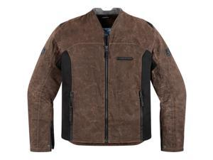 Icon One Thousand Oildale Motorcycle Jacket Brown Medium
