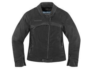 Icon One Thousand Hella 1000 Womens Motorcycle Jacket Black X-Small