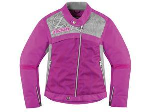 Icon Womens Hella 2 Textile Motorcycle Jackets Purple X-Small