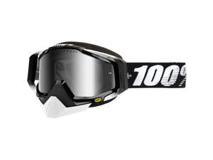 100% Racecraft Snow Goggles Black/Mirror Silver Lens OSFM